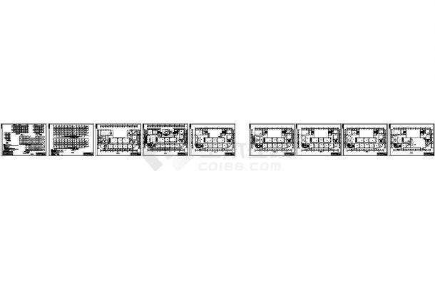 陕西某六层大专院校教学楼电气设计图纸(CAD,11张图纸)-图一