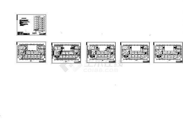 陕西某六层大专院校教学楼电气设计图纸(CAD,11张图纸)-图二