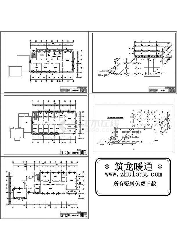 办公楼设计_某三层办公楼采暖设计图纸-图二