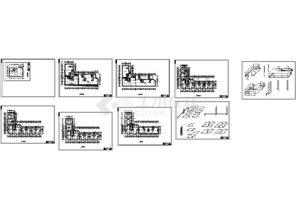 长春某综合楼采暖系统设计图纸-图一