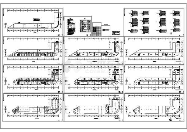 多层办公楼电气设计图(CAD,12张图纸)-图二
