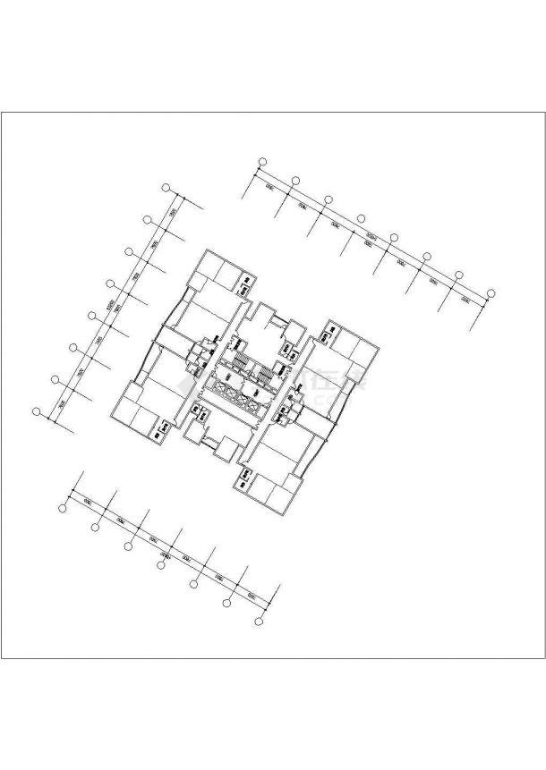 某地高层金潮大厦全套施工设计cad图纸(含总平面图)-图二