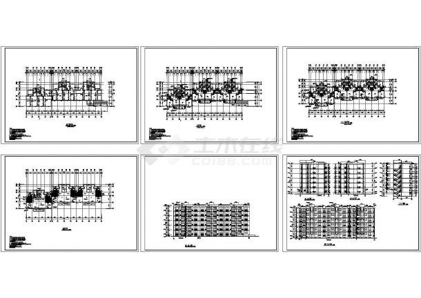 多层住宅楼设计方案全套施工平立面图-图一