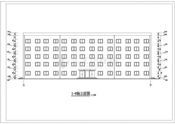 土木工程毕业设计_某框架商务综合办公大楼毕业设计完整资料(含详细计算书、任务书)-图一