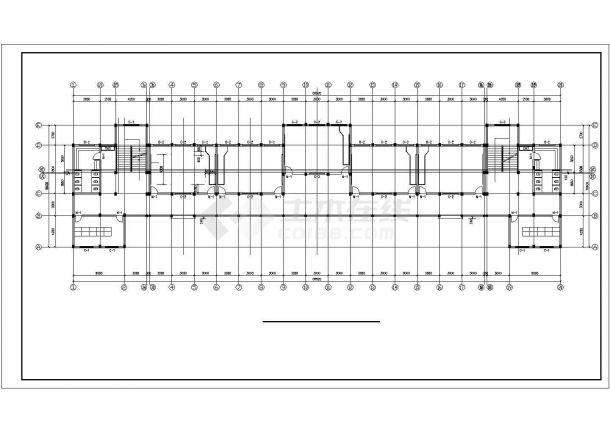 某大学2.2万平米7层框架结构教学楼建筑+结构CAD设计图纸-图一