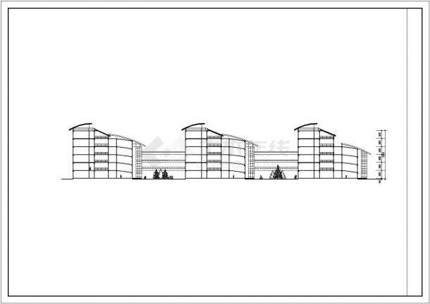 银川市某大学3.7万平米六层框架结构教学楼全套建筑CAD设计图纸-图一