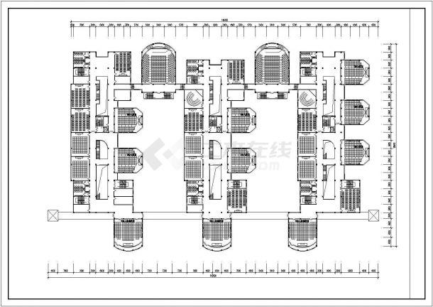 银川市某大学3.7万平米六层框架结构教学楼全套建筑CAD设计图纸-图二