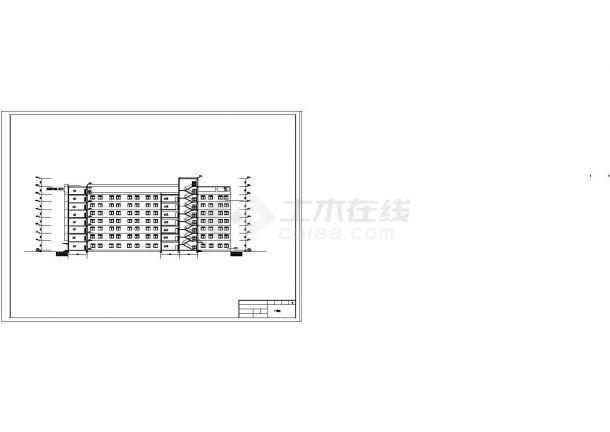 土木工程毕业设计_办公楼设计_某八层综合办公楼毕业设计完整资料(含详细计算书、结构图)-图一