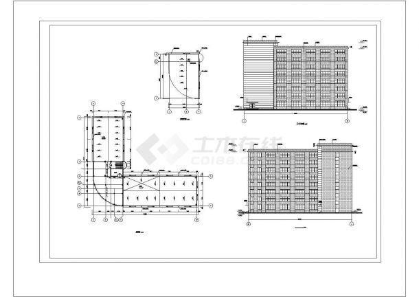 土木工程毕业设计_办公楼设计_某八层框架综合办公楼毕业设计完整资料(含详细计算书、结构图)-图一