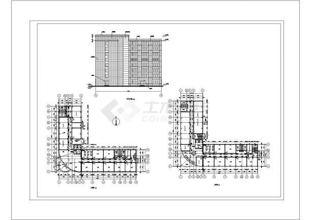 土木工程毕业设计_办公楼设计_某八层框架综合办公楼毕业设计完整资料(含详细计算书、结构图)-图二