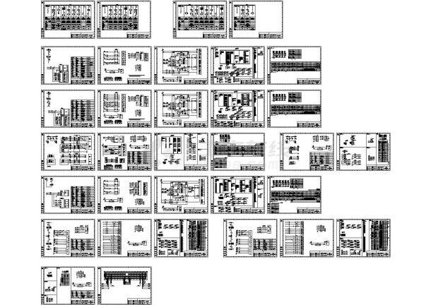 某地高压开关柜全套cad施工设计图纸(含配电系统图,效果图)-图二