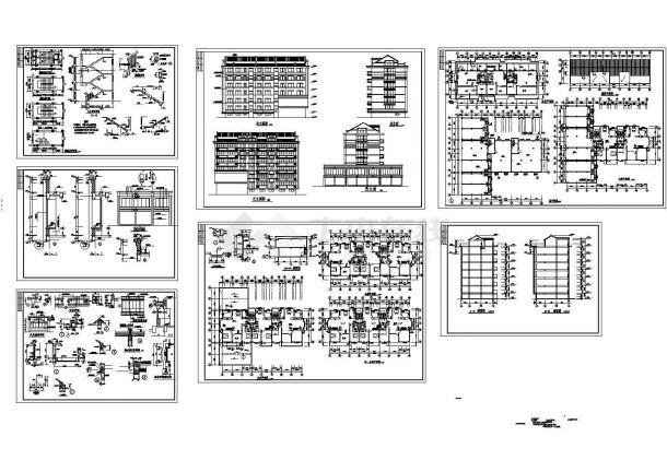 某六层砖混结构商住楼设计cad全套建筑施工图(甲级院设计)-图一