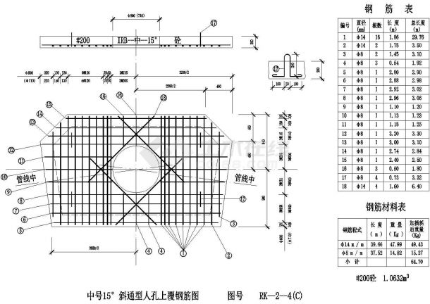 经典管道人孔设计cad全套施工图图集(标注详细,种类齐全)-图二