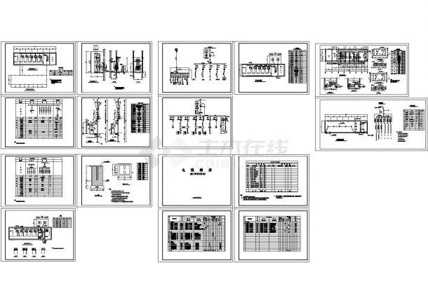 成都某变电所电缆清册电气设计CAD施工图-图一