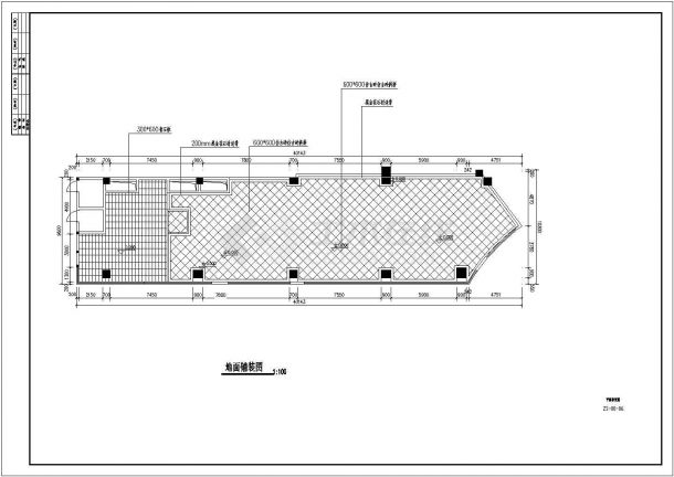 福州市某知名火锅连锁店整体室内装修设计CAD图纸-图一