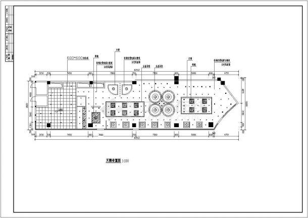 福州市某知名火锅连锁店整体室内装修设计CAD图纸-图二