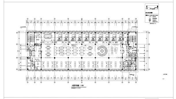 [江苏]某市政八层食堂及附属用房建筑施工cad图纸(含效果图)-图一