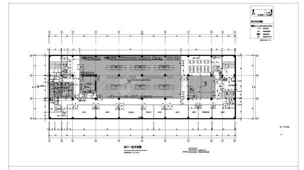 [江苏]某市政八层食堂及附属用房建筑施工cad图纸(含效果图)-图二