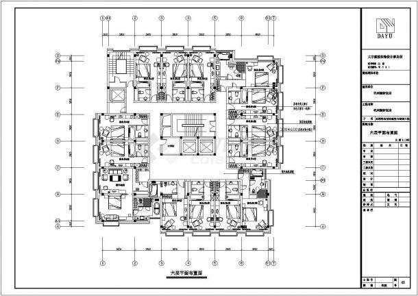 浙江省杭州市新新饭店施工设计CAD图纸(含效果图)-图二