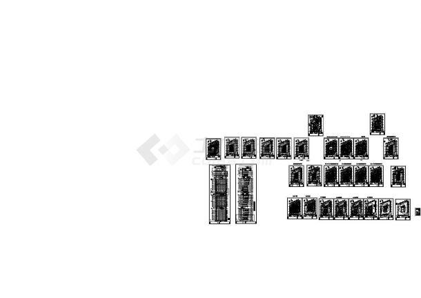 [江苏]67层商业楼给排水施工图(气体灭火系统)(绘图细致)-图一
