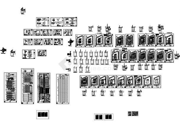 [江苏]67层商业楼给排水施工图(气体灭火系统)(绘图细致)-图二