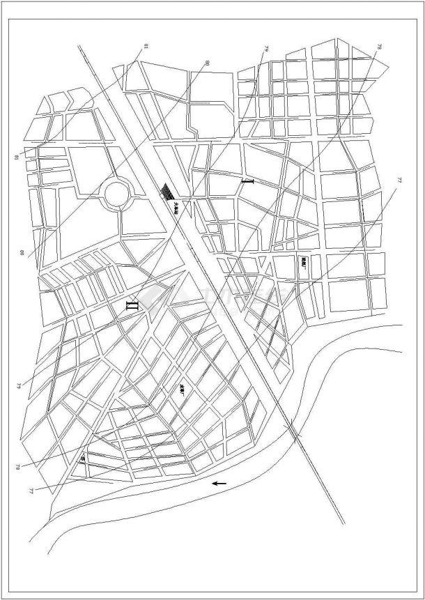 某市政排水管网布置图-图一