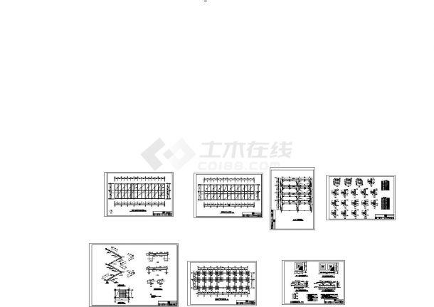 [重庆]某中学2841.6m2四层钢筋混凝土框架结构教学楼全套建筑结构施工图-图二