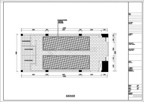 兰溪市凯歌归茶楼多功能厅详细施工设计CAD图纸(含效果图)-图一