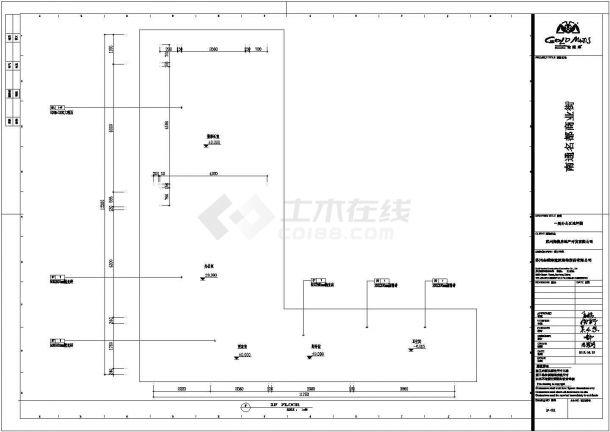 金螳螂南通名都商业街餐饮全套施工设计CAD图纸-图二