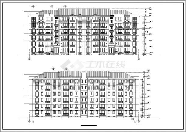 某小区3050平米6层框混结构住宅楼建筑CAD设计图纸(含地下层)-图一