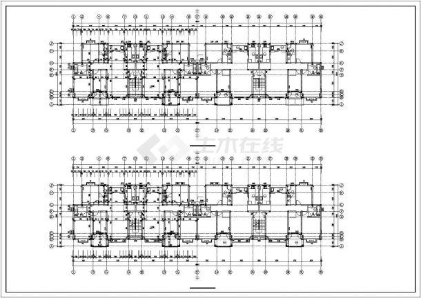 某小区3050平米6层框混结构住宅楼建筑CAD设计图纸(含地下层)-图二