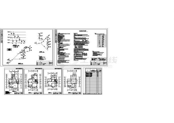 武汉某别墅给排水施工图Cad设计图-图一