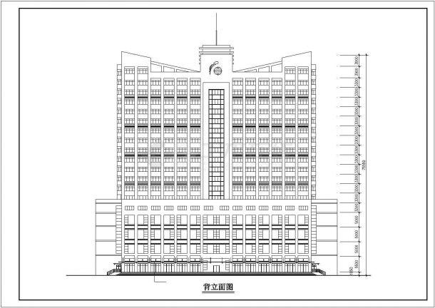湖州市某商业街20层框架结构商务酒店建筑CAD设计图纸(1-4层商铺)-图一