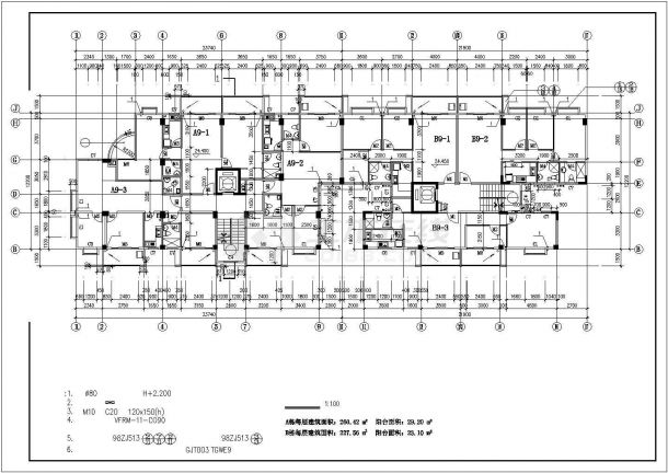 占地600平米9层框混结构住宅楼建筑CAD设计图纸(底层为架空层)-图一