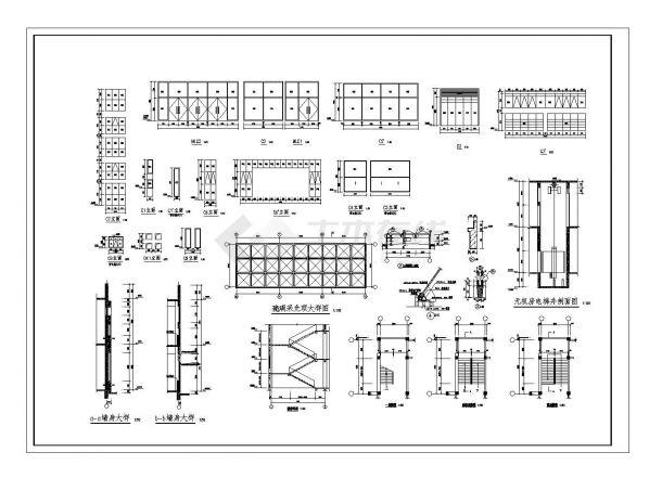 [山东]某高校二层食堂建筑施工cad图纸-图二