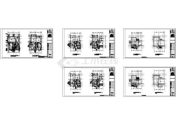 联排叠拼多户型高档住宅小区给排水竣工图纸Cad设计图-图二
