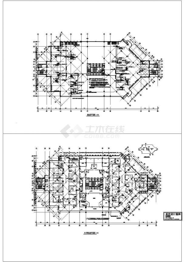 某医院手术室电气施工cad图(含弱电设计图)-图一