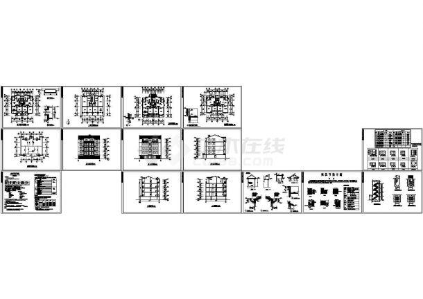某单元式五层住宅楼建筑方案扩初图设计-图一