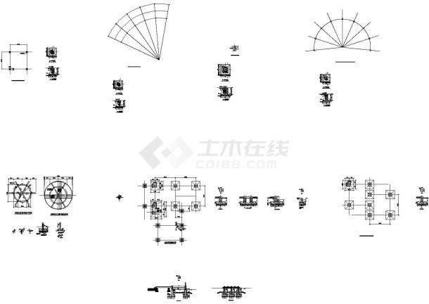 北京某景亭结构施工CAD设计图-图二