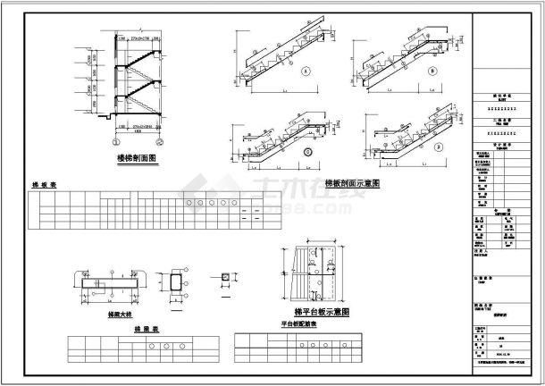 三层独栋别墅cad建筑结构水电全套施工设计图附效果图-图二