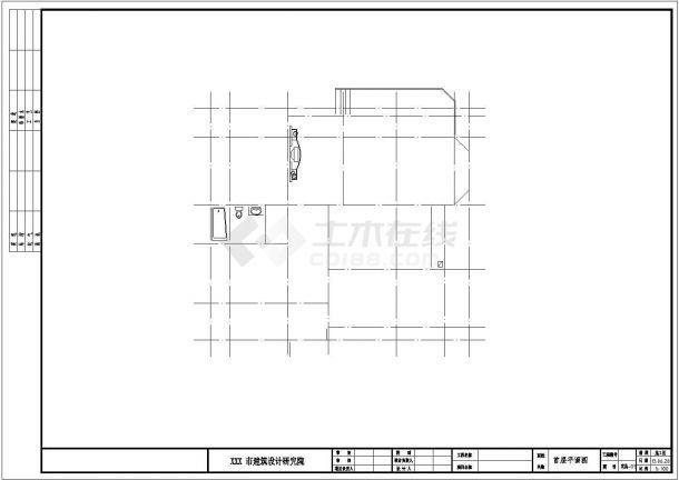 农村自建房三层别墅CAD全套施工图-图一