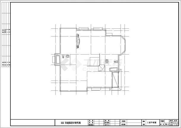 农村自建房三层别墅CAD全套施工图-图二