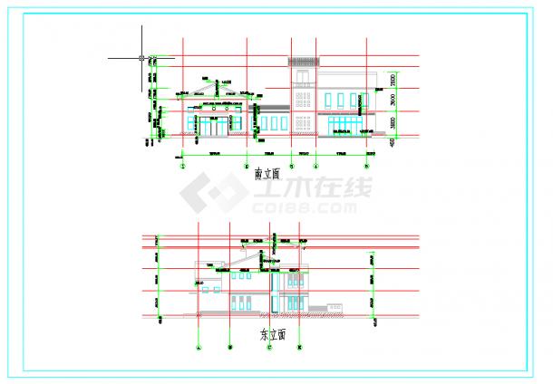 [云南]多层两层社区活动中心建筑施工图-图一