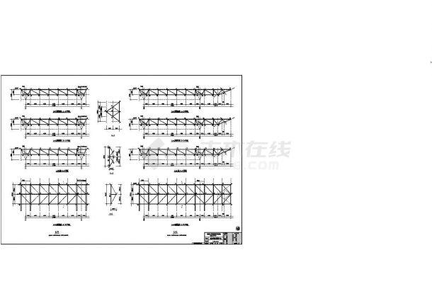 南京某会展中心钢结构图纸(CAD,30张图纸)-图二
