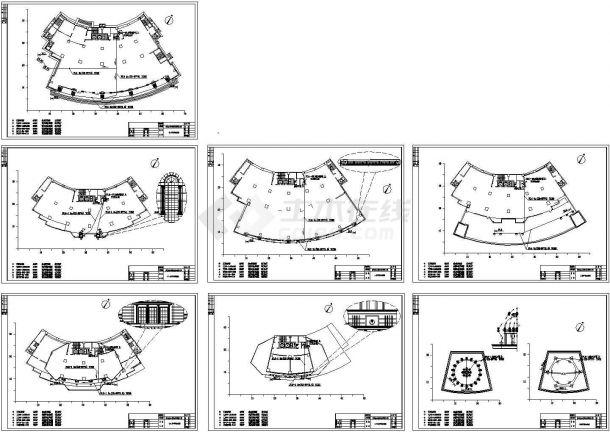 办公楼设计_二十层银行大楼泛光营业办公楼电气施工cad图(含照明设计图,共十五张)-图一