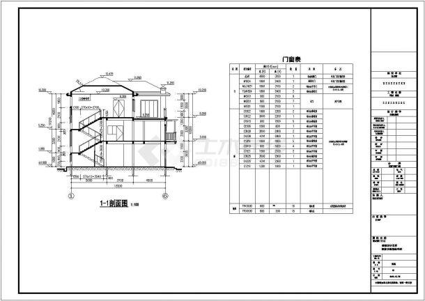 贵阳市某村镇占地170平米三层框架结构独栋别墅建筑CAD设计图纸-图二