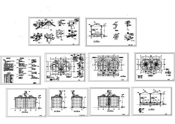 单层砌体结构粮仓结构CAD施工图-图一