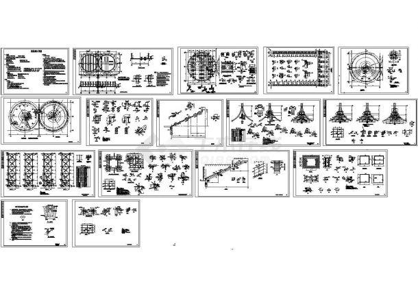 单层砌体结构粮仓结构CAD施工图-图二