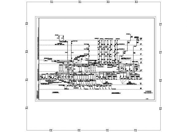 办公楼设计_某地超高层办公楼给排水全套设计cad施工图纸-图一