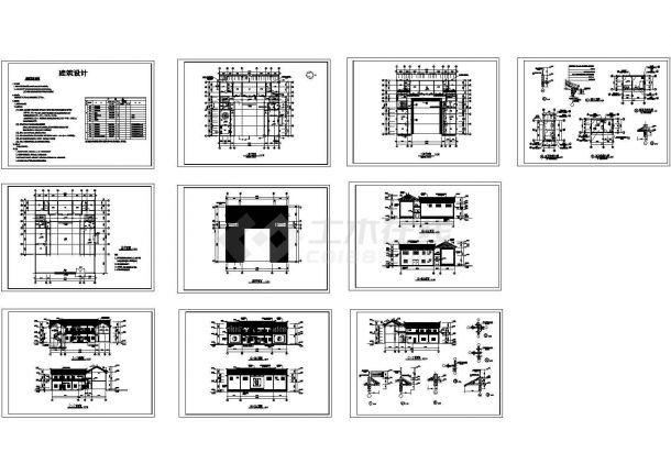 云南大理某多层框架结构住宅楼设计cad全套建筑施工图(含设计说明)-图二
